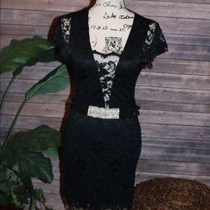 Arden B Lace Little Black Dress